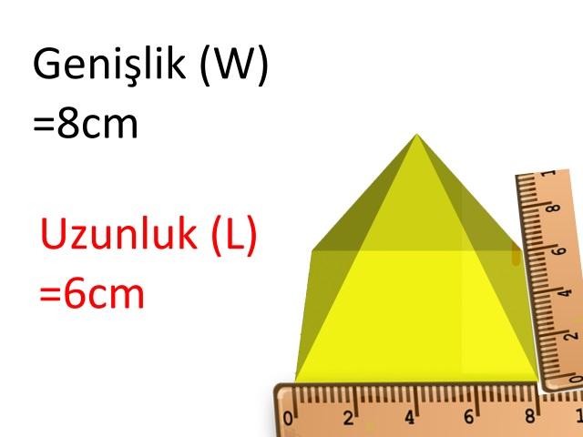 Piramidin Hacmi Nasıl Hesaplanır (Dikdörtgen Tabanlı)